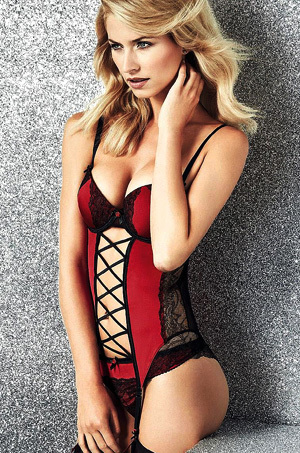 Lena Gercke Sexy Blonde Lingerie Model
