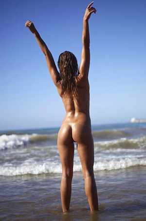 Amber Nude On The Beach