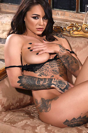 Mica Martinez Amazing Tattooed Glamour Babe