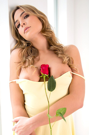 Blair Williams With A Rose