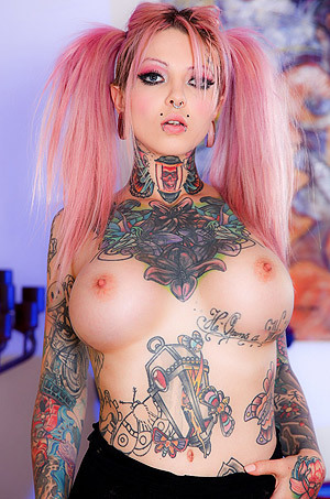 Busty Tattooed Bitch
