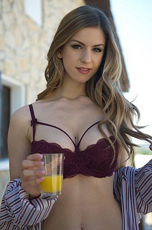 Stella Cox In Puple Lingerie