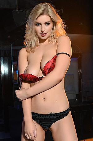 Jess Davies Strips Off Her Sexy Bra