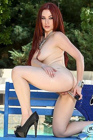 Sexy Redhead Jessica Ryan Dildoing Herself