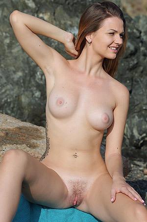 Gorgeous Brunette Odara Strips Off Her Sexy Bikini