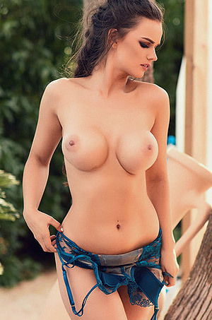 Busty Ashley White Gets Naked Outdoors