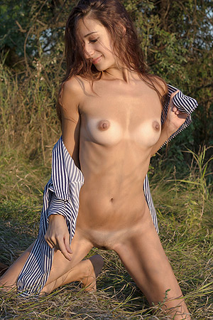 Russian Teen Posing On Nature