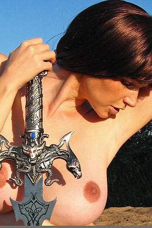 Mari With Big Sword