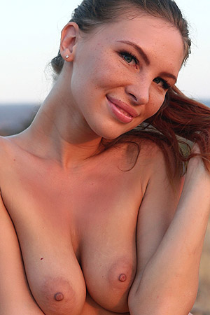 Hot And Nice Galina A Strips Outdoors
