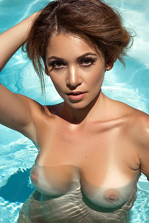 Busty Ali Rose	is Nude By The Pool